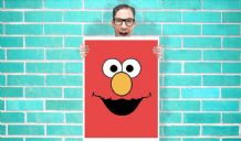 Elmo Red Sesame Street Art - Wall Art Print / Poster   - Kids Children Bedroom Geekery